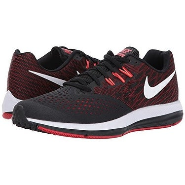 bee4f6962231 Shop Nike Zoom Winflo 4 Black White University Red Total Crimson Men s  Running Shoes - Free Shipping Today - Overstock - 18280775