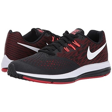 af9657de6cf9 Shop Nike Zoom Winflo 4 Black White University Red Total Crimson Men s  Running Shoes - Free Shipping Today - Overstock - 18280775