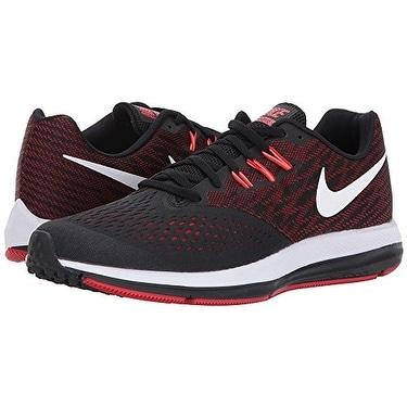 0e5b0b8d3924b Shop Nike Zoom Winflo 4 Black White University Red Total Crimson Men s  Running Shoes - Free Shipping Today - Overstock - 18280775