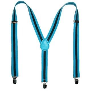 CTM® Men's Elastic Striped Clip-End Suspenders - One Size