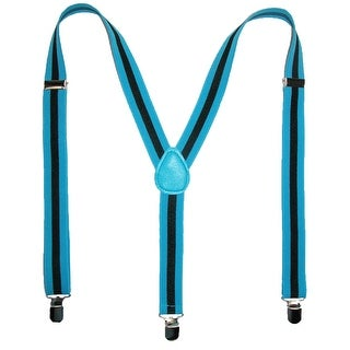 CTM® Men's Elastic Striped Clip-End Suspenders