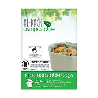 Al-Pack Enterprises P-RGBC1716COMP 3 gal Kitchen Trash Bag