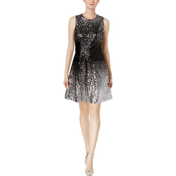 Vince Camuto Womens Cocktail Dress Sequined Ombre