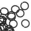 Artistic Wire, Chain Maille Jump Rings, 20 Ga / ID 4.37mm / 150pc, Black Color - Thumbnail 0