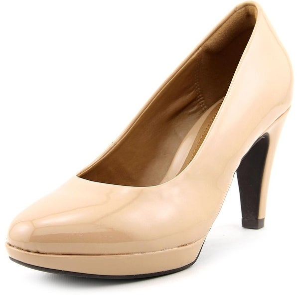 Clarks Brier Dolly Women Round Toe Synthetic Nude Heels