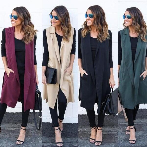 d2e0b8684 Shop Women Waterfall Cape Lapel Long Cardigan Jacket Coat Waistcoat ...