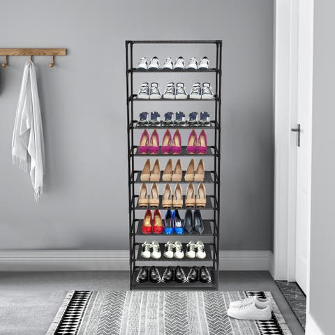 3/10-Tier Shoe Rack Entryway Shoe Shelf Organizer