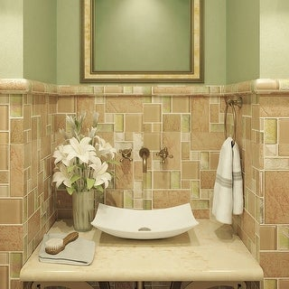 "DecoLav 1443 Iris 23-5/8"" Rectangular Vitreous China Vessel Bathroom Sink - White - N/A"