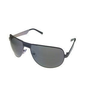 Umbro Sunglass Mens Black, Solid Smoke Lens Metal Sport Aviator US23 Gunmetal - Medium