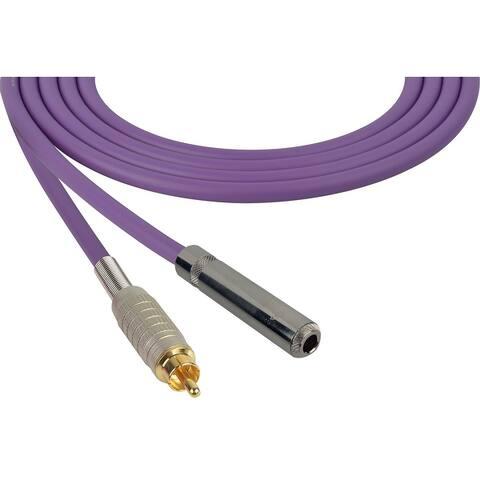 Sescom SC3SJR Audio Cable Canare Star-Quad 1/4 Inch TS Female to RCA Male