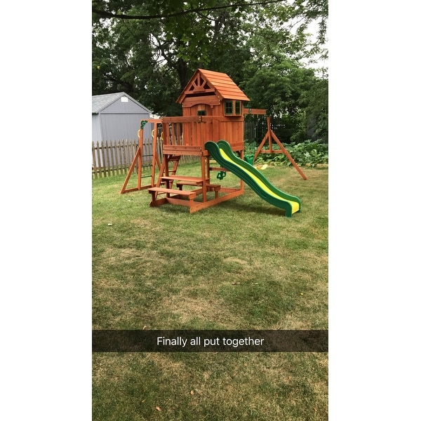 Shop Backyard Discovery 40014 Springboro All Cedar Swing Set Play