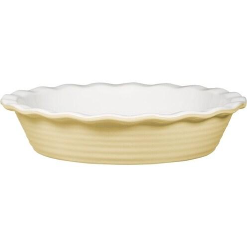 """Palais Dinnerware 'Tarte' Collection, Ceramic Pie Dish - 10"""" Diameter (Peach)"""