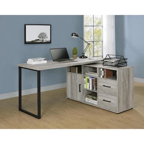 Hertford L-shape Office Desk with Storage