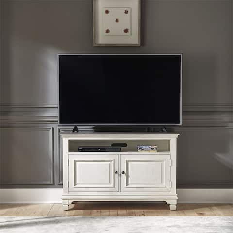 Allyson Park Wirebrushed White 46-inch TV Console