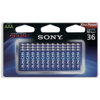 Sony S-Am4B36A Stamina(R) Plus Alkaline Batteries (Aaa; 36 Pk)