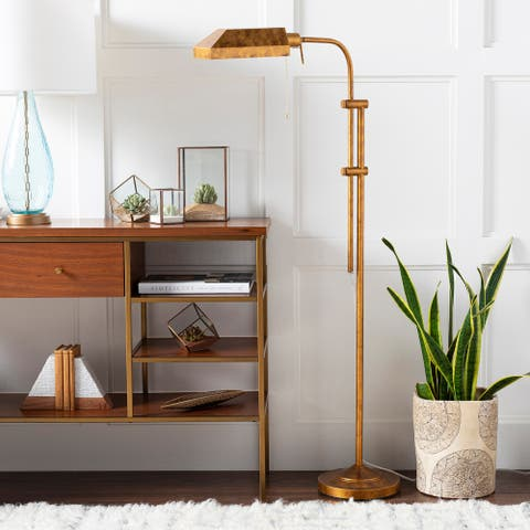 """Tate Bronze Adjustable Bankers 68-inch Floor Lamp - 68""""H x 20""""W x 10""""D"""