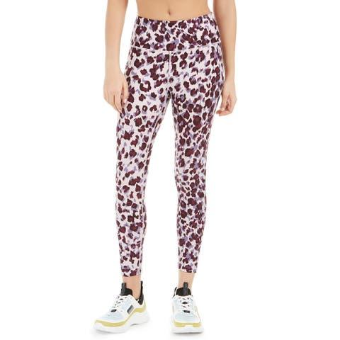 Calvin Klein Women's Leopard Print High-Waist Leggings Purple Size 2 Extra Large - XX-Large