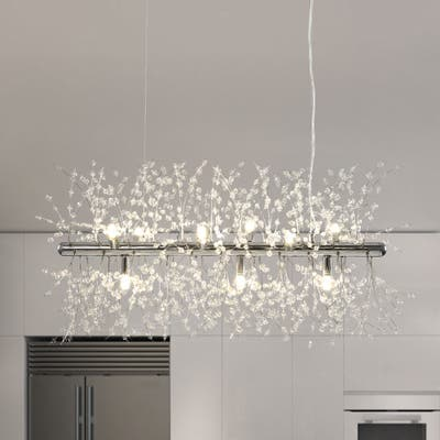 OYIPRO-Modern Contemporary 9 Light Linear Chandelier - 28.35 Inch