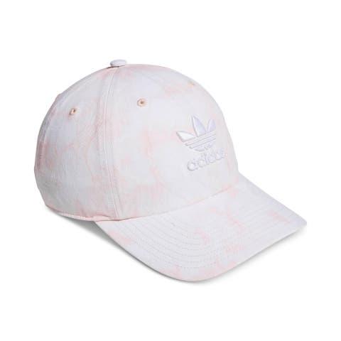 adidas Originals Womens Ball Cap Tie-Dye Logo - Dust Pink/White - O/S
