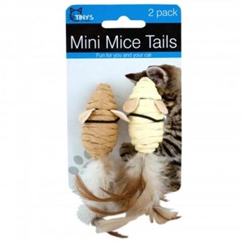 Kole Imports KA327-48 Mini Mice Cat Toys, 48 Piece