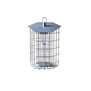 The Nuttery Hexihau Squirrel Resistant Compact Suet Bird Feeder, Sky Blue