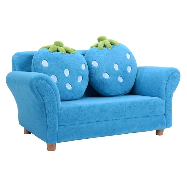 Shop Bl Pi Kids Strawberry Armrest Chair Sofa Blue Free