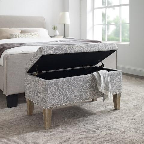 Patrice Stone Upholstered Storage Ottoman