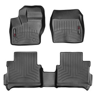 WeatherTech 44599-1-4 Black Front & Rear FloorLiner: Ford Transit Connect 2014 + Short Wheelbase