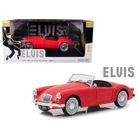 1959 MG A 1600 Roadster MKI Red Blue Hawaii (1961) Movie Elvis Presley Series (1935-1977) 1/18 Diecast Model Car by Greenlight