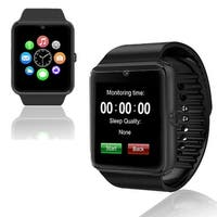 Indigi® New Black GT8 Universal SmartWatch & Phone - Bluetooth Sync + Built-in Camera + Pedometer + SIM Slot + (3G Unlocked)
