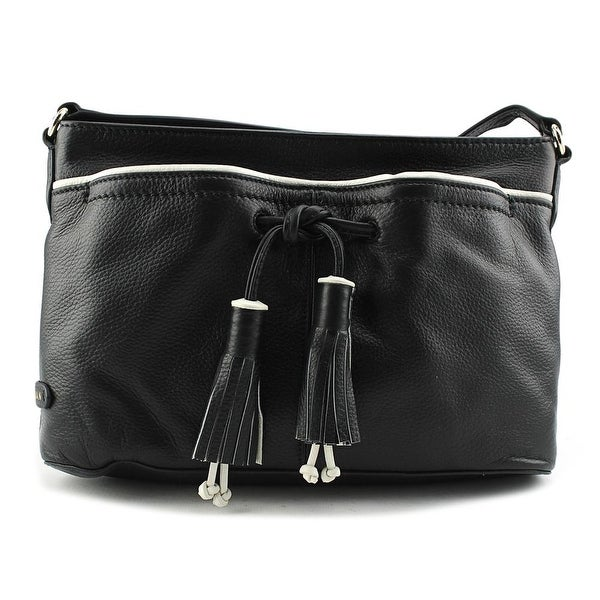 Cole Haan Reiley Tassel    Leather  Messenger - Black
