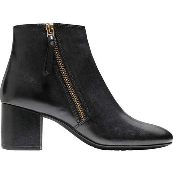 Saylor Grand Bootie II Black Leather
