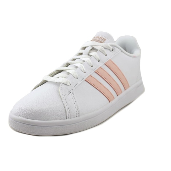 Adidas CF Advantage Women Round Toe Leather White Tennis Shoe