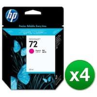 HP 72 69-ml Magenta DesignJet Ink Cartridge (C9399A) (4-Pack)