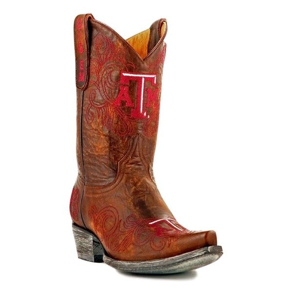 Gameday Boots Womens College Team Texas A&M Reveille Brass