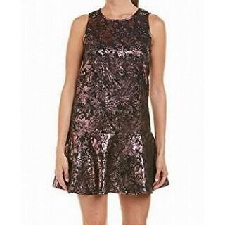 Laundry by Shelli Segal Black Womens Metallic Sheath Dress