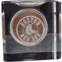 Boston Red Sox Engraved Crystal Ball Holder