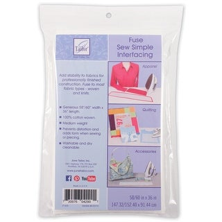 "Sew Simple Fusible Interfacing-58/60""X36"" - White"