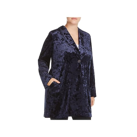 Bobeau Womens Plus Jame Velvet Jacket Long Dressy - 1X