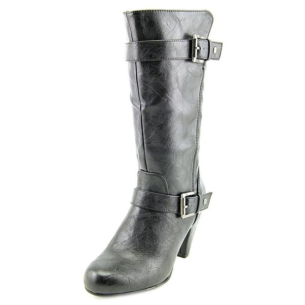 Nine West Danica Round Toe Synthetic Mid Calf Boot
