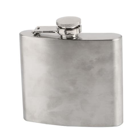 Travel Stainless Steel Rectangle Wine Container Flask Bottle Silver Tone 5oz