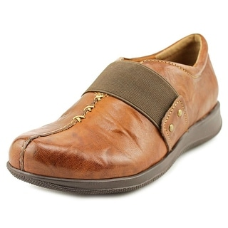 Softwalk Tanner Too Women Round Toe Leather Brown Clogs