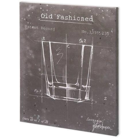 Mercana Barware Blueprint I (44 x 55) Made to Order Canvas Art