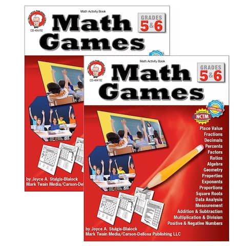 (2 Ea) Math Games Gr 5-6
