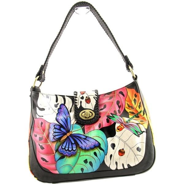 Anuschka 7248 Women Leather Multi Color Shoulder Bag - Multi-Color