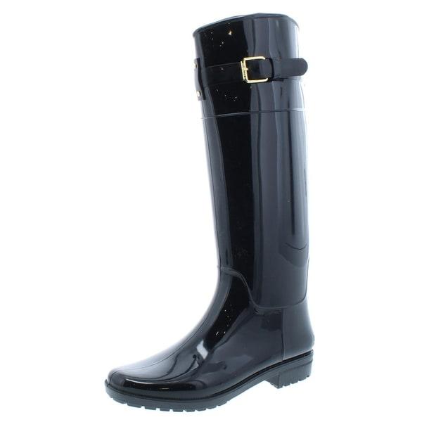 c14da9ec5592 Lauren Ralph Lauren Womens Rossalyn II Rain Boots Knee High Buckle Detail -  9 medium (