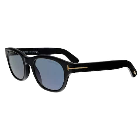 64c44d57091 Tom Ford FT0530 01V O keefe Black Rectangular Sunglasses - No Size