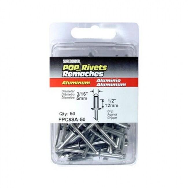 Surebonder FPC68A-50 Long Aluminum Rivet, 3/16 Dia., 50-Pack