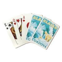 Polar Bears & Cub - Cordova, Alaska - LP Art (Poker Playing Cards Deck)