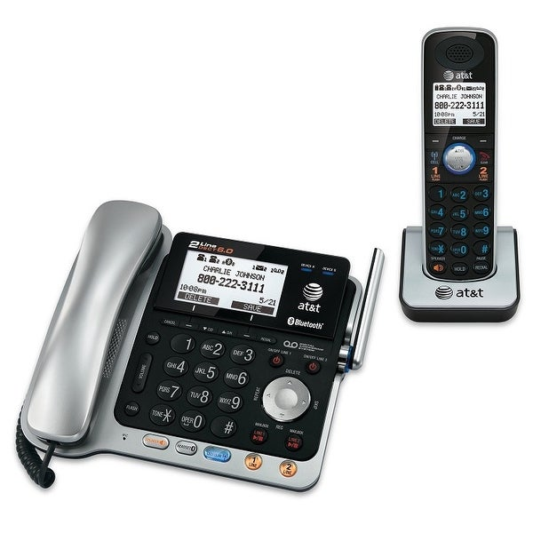 At&T Tl86109 2-Line Connect To Cell Corded/Cordless Answering System